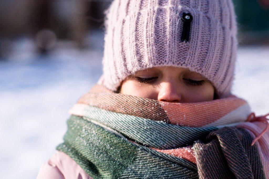 child, girl, winter